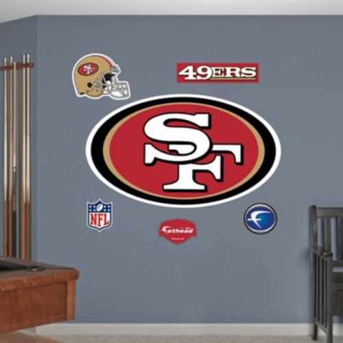 Fathead NFL San Francisco 49ers Logo Wall Graphic