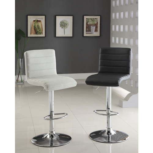 Furniture of America Lastan Adjustable Tufted Leatherette Swivel Bar Stool [Floor to Seat Height (in.) : 24.5]
