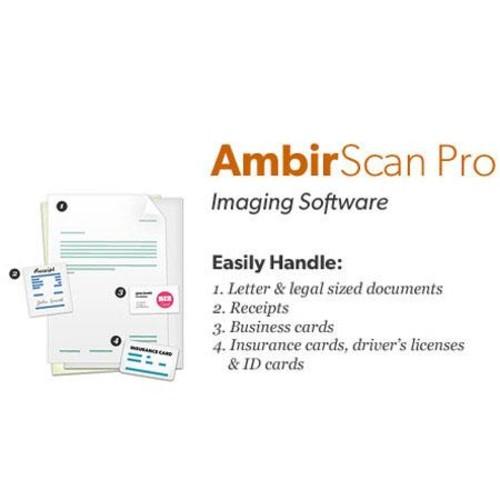 Ambir AmbirScan Pro Scanner Software AS310-PE