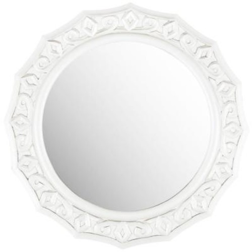 Safavieh Gossamer Lace 24 in. x 25 in. MDF Wood and Glass Framed Mirror