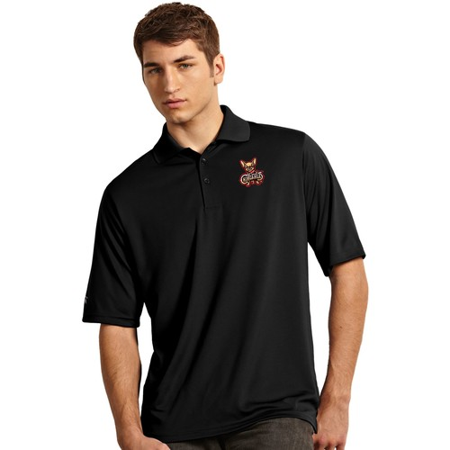 Antigua Men's El Paso Chihuahuas Exceed Black Polo