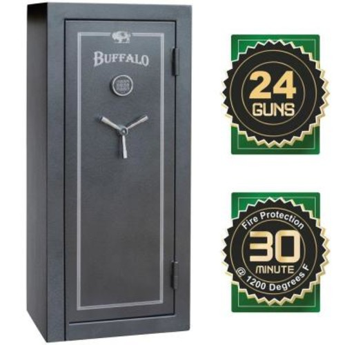 BUFFALO 28-Gun 12 cu. ft. Electric Lock Fire-Resistant Combination Gun Safe