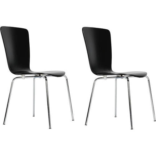 Dorel Bentwood Black Dining Chairs, Set of 2