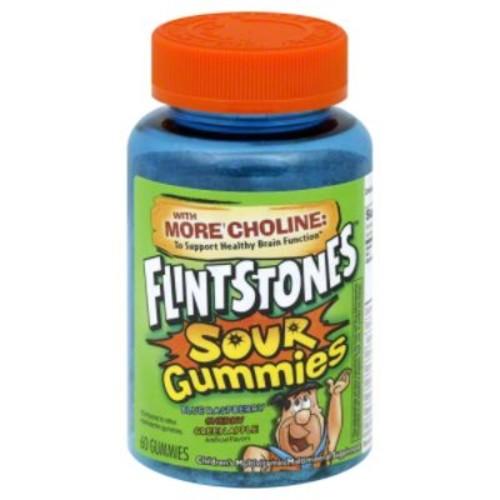 ONE A DAY Children's Multivitamin/Multimineral Supplement, Flintstones, Sour Assorted, Gummies, 60 gummies