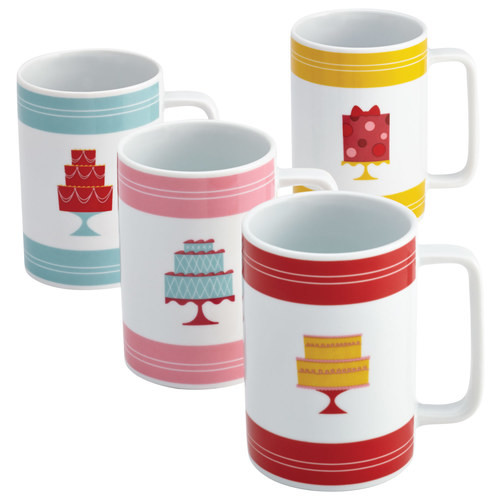 Cake Boss - 12-Oz. Mugs (4-Count) - Multi
