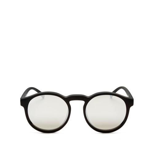 Cubanos Mirrored Round Sunglasses, 47mm