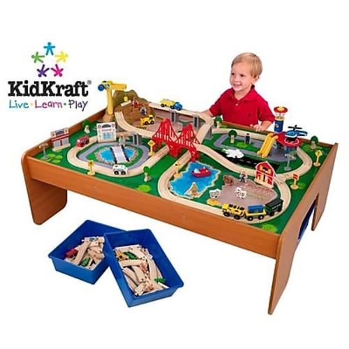 KidKraft Ride Around Town Train Set with Table