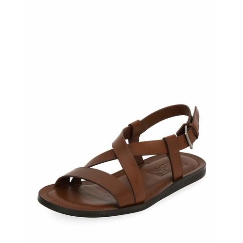 SALVATORE FERRAGAMO Nostro 2 Habana Leather Strap Sandal, Brown