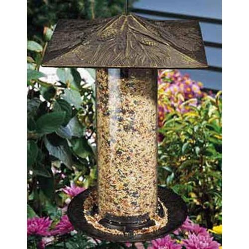 Whitehall Products Pinecone Tube Feeder, 12-Inch, French Bronze