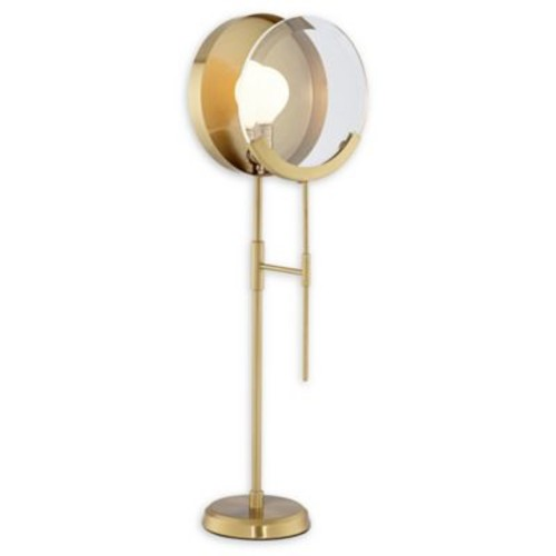 Pacific Coast Lighting 1-Light Magnifying Table Lamp in Brushed Brass
