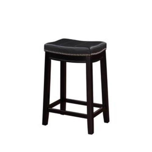 LINON HOME DECOR PRODUCTS, INC Linon Home Decor 55815BLK01U Claridge Black Counter Stool
