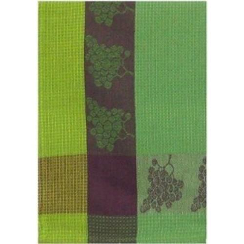 Fleur De Lis Living Patterned Grapes 100pct Cotton Dishcloth (Set of 6); Green
