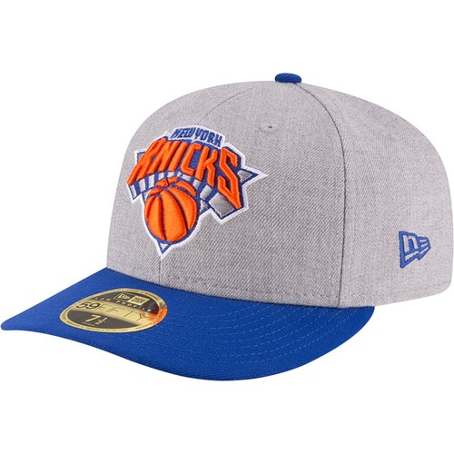 Era Men's New York Knicks 59Fifty Low Crown Grey Fitted Hat