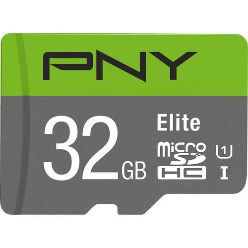 PNY Elite microSDHC Memory Card (32GB) Class 10, UHS Speed Class 1