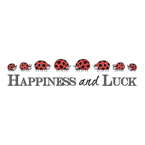 Brewster 19.7 in. x 12.2 in. Happiness Wall Decal
