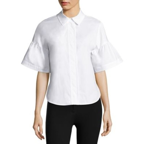 BURBERRY Short Bell Sleeve Top