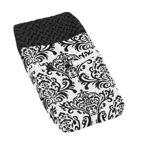 Sweet JoJo Designs Black and White Isabella Baby Changing Pad Cover