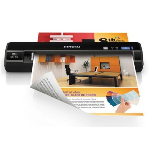 Epson WorkForce DS-40 Portable Color Document Scanner - Refurbished by Epson B11B225201-N