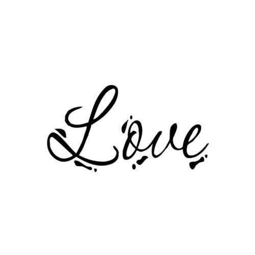 Love Writing Sign Vinyl Wall Art