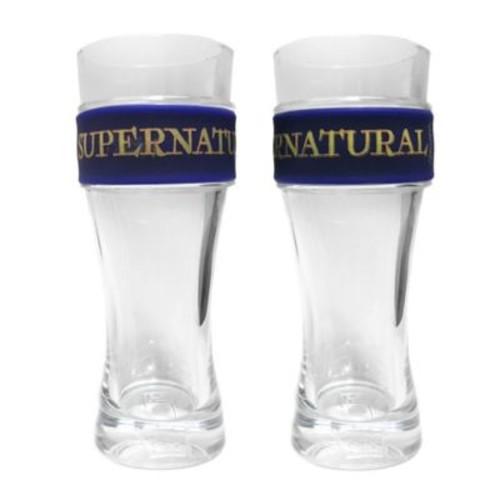 Iconic Concepts Santana Supernatural Slap Band Pint Glasses (Set of 2)