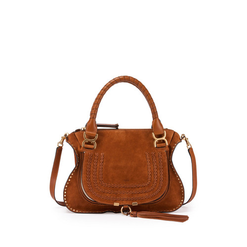 CHLOE Marcie Medium Suede Satchel Bag