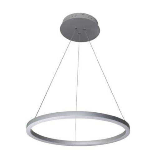 VONN Lighting Tania Collection 36-Watt Silver Integrated LED Adjustable Hanging Modern Circular Chandelier 24 in.