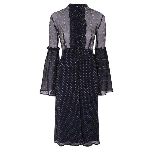 Mesh Star Midi Dress