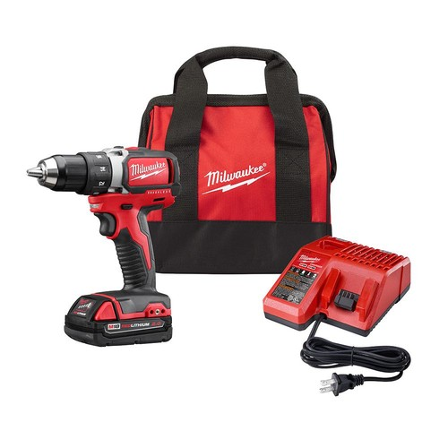 Milwaukee M18 18-Volt Cordless 1/2 in. Compact Brushless Drill/Driver Kit