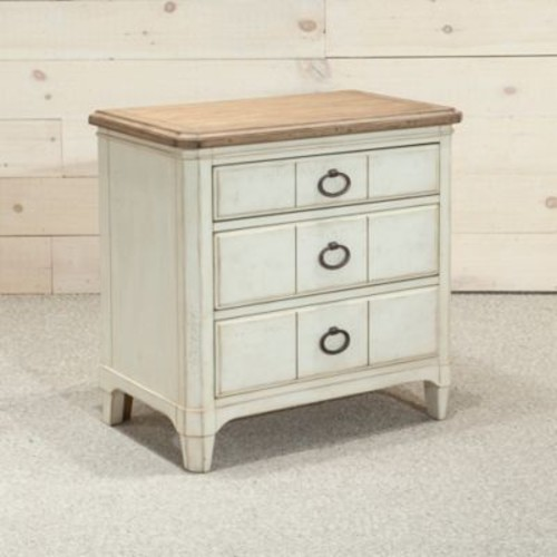 Panama Jack Millbrook 3-Drawer Nightstand in White
