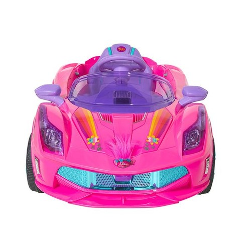 Dynacraft Bicycles, Ride-On Toys & Scooters Dynacraft Trolls Pink 6-volt Super Coupe