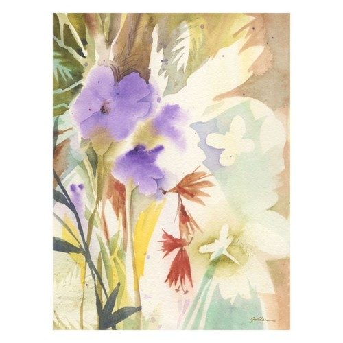 Trademark Fine Art Shelia Golden 'Hymn to Nature' Canvas Art 35x47 Inches, SG5638-C3547GG