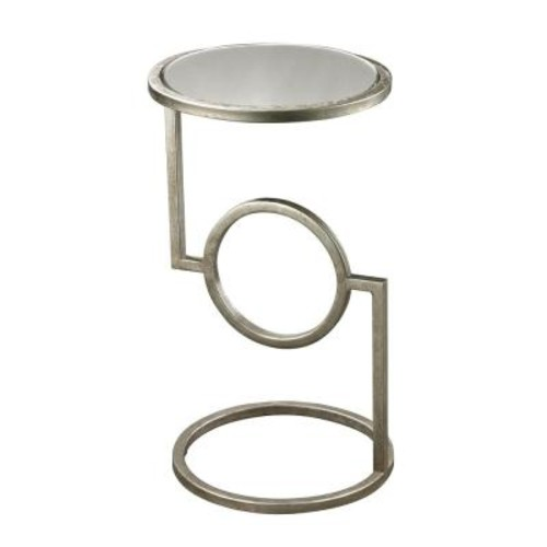 Titan Lighting Antique Silver Mirrored Top Side Table