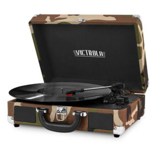 Victrola 3-Speed Bluetooth Suitcase Turntable with Built-In Stereo Speakers