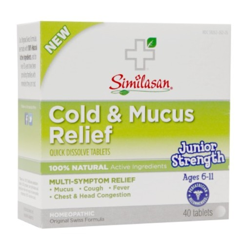 Similasan Junior Strength Cold & Mucus Relief Quick Dissolve Tablets