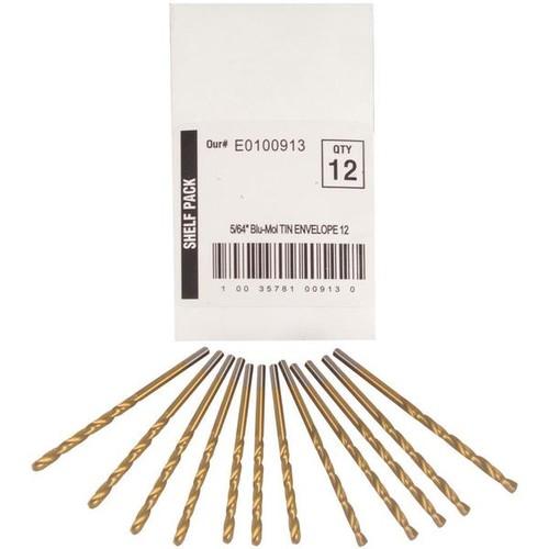 Disston Tool BLU-MOL 5/64 inch Titanium Drill Bits (Pack of 12)