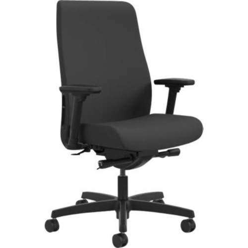 HON Endorse Fabric Computer and Desk Office Chair, Adjustable Arms, Black (LWU2ACU10.COM) NEXT2017