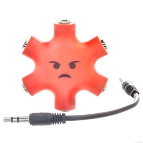 5 Way Headphone Splitters - Red