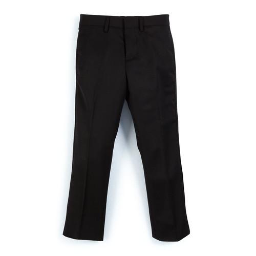 BURBERRY BRIT Wool Slim-Fit Tuxedo Pants, Black, Size 4-14