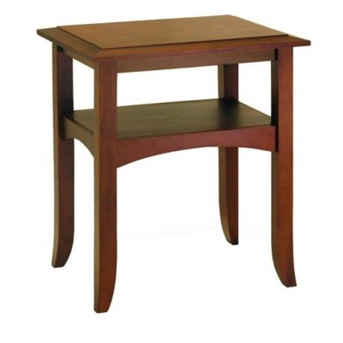 Craftsman End Table with Shelf - Antique Walnut - Winsome