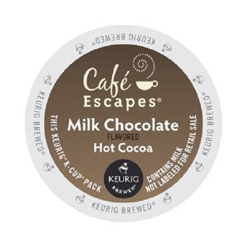 Caf Escapes Hot Cocoa, Milk Chocolate, K-Cup Portion Pack for Keurig Brewers, 24-Count [Milk Chocolate, 24-Count]