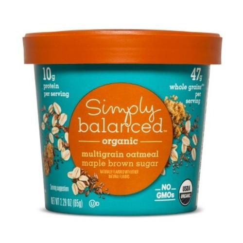Organic Maple Brown Sugar with Chia & Flax Seeds Multigrain - 1.9oz - Simply Balanced