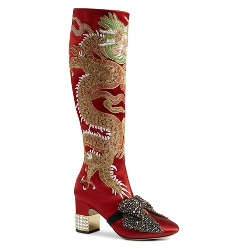 GUCCI Candy Embroidered Tall Boots
