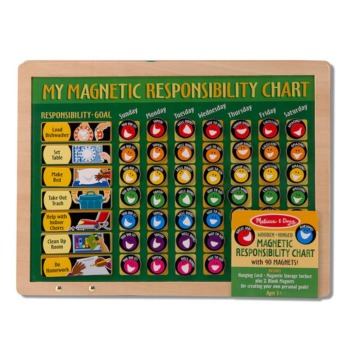 Melissa & Doug Deluxe Wooden Magnetic Responsibility Chart With 90 Magnets [Standard]