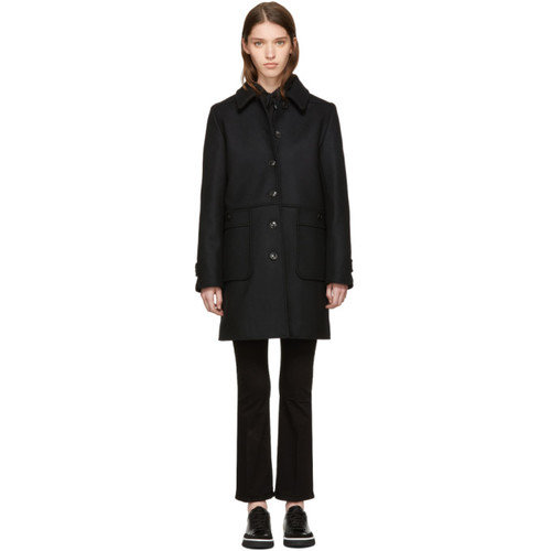 A.P.C. Black Rosalie Coat