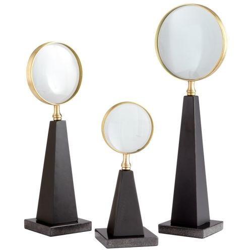 Cyan Design Large Introspection Magnifier Introspection Magnifier 18.5 Inch Tall Iron, Glass Granite Sculpture