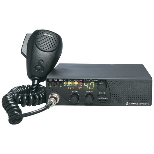 COBRA ELECTRONICS 18 WX ST II 40-Channel CB Radio with 10 NOAA Weather Channels