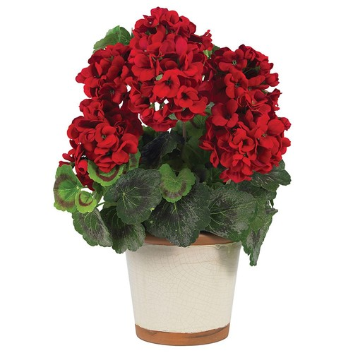 Nearly Natural 17 in. Geranium Silk Plant