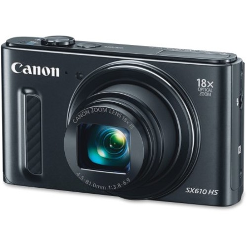 Canon PowerShot SX610 HS 20.2 MP Digital Camera 18x Zoom - Black (0111C001)