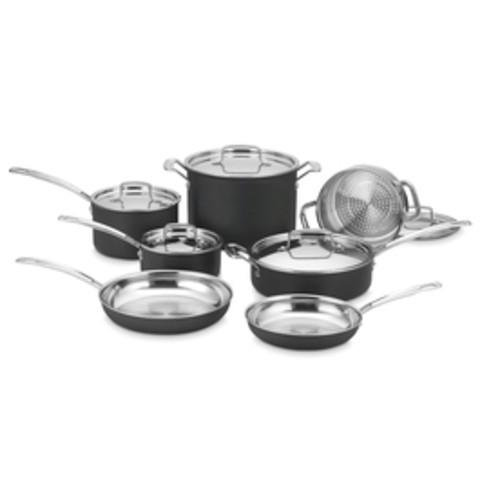 Cuisinart 12-Piece MultiClad Aluminum Cookware Set with Lids