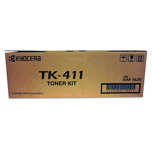 Kyocera KYOTK411 TK411 Toner, 15,000 Page-Yield, Black